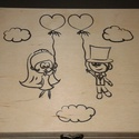 12 rekeszes esküvői doboz A házasság nélkülözhetetlen kellékei részére