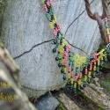 Kelta, színes nyaklánc, Ékszer, óra, Nyaklánc, Régvolt kelta ékszer mintája alapján készült, színesen tündöklő nyaklánc.  Hossza kb 39 cm kapoccs..., Meska
