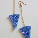 Nyílvessző, Ékszer, Fülbevaló, Sokszor készítettem már háromszögeket, itt, a Meskán is az első termékeim között voltak. Szeretem ők..., Meska