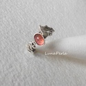 Egyedi ezüst gyűrű  turmalinnal, Ékszer, óra, Gyűrű, Picike (6x4 mm) rózsaszín turmalint  foglaltam ezüstbe, amit egy egyedi gyűrűsínre illesztette..., Meska