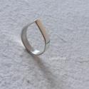 Csepp ezüst gyűrű 2. - kisméret, Ékszer, Gyűrű, Csepp formájú ezüst gyűrűt készítettem, fényesre políroztam. A gyűrűsín 4 mm széles.  Belső átmérője..., Meska