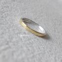Arany  -  ezüst gyűrű, Ezüst gyűrűt készítettem, az elejét aranylem...