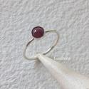 Ezüst gyűrű rubinnal, Ékszer, Gyűrű, Vékonyka ezüst gyűrűt készítettem, 5 mm-es rubinnal.  Belső átmérője 17,3 mm.        , Meska