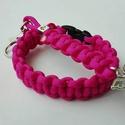 Pink dream, Ékszer, Ékszerszett, Rózsaszín színű, cobra mintával készült paracord karkötő és angyalkás kulcstartó. Karkö..., Meska