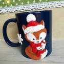 Egyedi karácsonyi bögre, Konyhafelszerelés, Baba-mama-gyerek, Bögre, csésze, Baba-mama kellék, Gyurma, Egyedi, névre szóló karácsonyi bögréből a forrócsoki, vagy a finom meleg tea is jobban esik! :)  Ha..., Meska