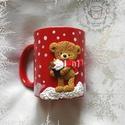 Egyedi karácsonyi bögre, név kérhető rá!, Konyhafelszerelés, Bögre, csésze, Gyurma, Egyedi, névre szóló karácsonyi bögréből a forrócsoki, vagy a finom meleg tea is jobban esik! :)  Ha..., Meska