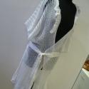 Fehér áttört mintás   kötött kabát, Ruha, divat, cipő, Női ruha, Kabát, Kötés, Varrás, Tavaszi -nyári  könnyű viselet ez az áttört mintás  gépi kötéssel készült kötött kabát.  Nyakát  és..., Meska