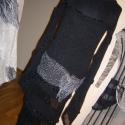 Fekete spirálos kötött ruha, Ruha, divat, cipő, Női ruha, Ruha, Kötés, Varrás, Spirál vonalban kialakított ujja és alja  teszi különleges viseletté ezt a gépi kötéssel készített ..., Meska