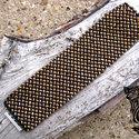 Arany parketta karkötő, Ékszer, óra, Karkötő, Arany- fekete gyöngyfűzött karkötő.   Méretei: 18,5cm hosszú, 4,5 cm széles. , Meska