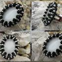 Pompadour gyűrű, Ékszer, Gyűrű, A gyűrű mintáját saját magam terveztem.  A benne lévő fehér üveg macskaszem kaboson 25mm x ..., Meska