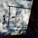 Kovácsoltvas virágtartó vagy Koszorútartó , Otthon, lakberendezés, Kerti dísz, Fémmegmunkálás, Kovácsoltvas, Kovácsolt vasból készült virágtartó vagy koszorútartó.Használható virágoknak támasztéknak de fel is..., Meska