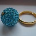 KIÁRUSÍTÁS! -20%! A Nagy Türkiz - gyűrű, Ékszer, Esküvő, Gyűrű, Most 20%-al olcsóbban vásárolhatod meg ezt a karkötőt. A feltüntetett ár már tartalmazza a kedvezmén..., Meska
