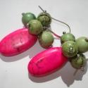 FÉLÁRAS-FILLÉRES! Pink és zöld howlit fülbevaló, Ékszer, Esküvő, Fülbevaló, Most 50%-al olcsóbban vásárolhatod meg ezt a fülbevalót. A feltüntetett ár már tartalmazza a kedvezm..., Meska