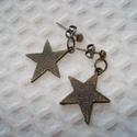 Bronz csillag - fülbevaló, Ékszer, Fülbevaló, Bronz színű fém csillagokat szereltem fel bronz színű szerelékekre.  Egyszerű, bájos ékszer. 10000 f..., Meska