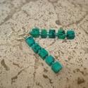 Krizokolla kockák - fülbevaló, 8 mm-es krizokolla kockákat használtam fel ehhez...