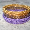 -10%+NO POSTA! Aranyból lila -színátmenetes karkötő , Most 10%-al olcsóbban vásárolhatod meg ezt a ka...