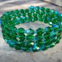 CSAK MA -50%! Smaragd és türkiz üveggyöngyös karkötő , Ékszer, Esküvő, Karkötő, Ékszerkészítés, CSAK MA FÉLÁRON! A FELTÜNTETETT ÁR MÁR TARTALMAZZA A KEDVEZMÉNYT.  6 mm-es smaragd ab csiszolt üveg..., Meska