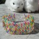 NO POSTA!  Húsvét mozaik (áttetsző) - twin gyöngyös  karkötő, Ékszer, Karkötő, Ebben a hónapban nem kell postadíjat fizetned, ha ezt a terméket megvásárolod. Az akció abban az ese..., Meska