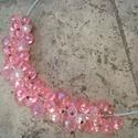 ÚJ! Rózsaszín bogyós nyaklánc - hercegnőknek :), Ékszer, óra, Nyaklánc, Különböző méretű és formájú, rózsaszín árnyalatú akril gyöngyöket szereltem fel lehel..., Meska