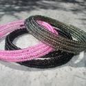 NO POSTA! Pink-fekete-szürke szimfónia - 3 darabos karkötő szett, Ebben a hónapban nem kell postadíjat fizetned, h...