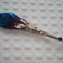 ÚJ! Titánia medál , Ékszer, Medál,  Titánium bevonatos kristályból és azonos színvilágú csiszolt üveggyöngyből készítettem ezt a medált..., Meska