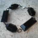 ÚJ! Óriás fekete gyöngyös karkötő, Hatalmas 2,5 és 3,4 cm-es fekete akril gyöngyök...