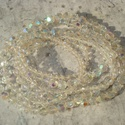 A Retro bája - áttetsző gyöngyös nyaklánc, Ékszer, Nyaklánc, 6 és 8 mm-es ab kristály csiszolt üveggyöngyökből álló hosszú  nyaklánc.   Gyermekkorom kedvenc éksz..., Meska