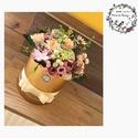 Vegyes virág örök-box, Esküvő, Emlék & Ajándék, Nászajándék, Virágkötés, Mindenmás, Szatén fényű boxunkba, kizárólag a  legjobb minőségű olasz selyemvirágaink kerültek bele, hogy soka..., Meska