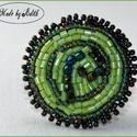 Hímzett gyűrű, Hímzett zöld gyűrű, Nagy gyűrű