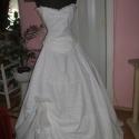 Madeira csipke, két részes menyasszonyi, alkalmi ruha., Ruha, divat, cipő, Esküvői ruha, Menyasszonyi ruha, Varrás, Nagyon szép madeira csipkéből készített menyasszonyi, báli ruha. A ruha két részes, füzős, a szokny..., Meska