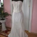 Menyasszonyi ruha, ekrü taft, két részes., Ruha, divat, cipő, Esküvői ruha, Menyasszonyi ruha, Varrás, Nagyon szép két részes, taft anyagból készített, menyasszonyi, báli ruha. A szoknyarésze szabott, s..., Meska