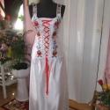 Menyasszonyi, menyecske, alkalmi ruha., Ruha, divat, cipő, Esküvői ruha, Női ruha, Hímzés, Varrás, Menyasszonyi, menyecske, alkalmi ruha egyedi tervezéssel. Két részes, anyaga düssesz, kalocsai hímz..., Meska