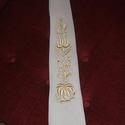 Kalocsai himzéssel diszített férfi nyakkendő, Férfiaknak, Ruha, divat, cipő, Esküvői ruha, Vőlegényes, Kalocsai hímzett egyedi férfi nyakkendő. Különböző szinben is rendelhető. , Meska