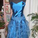 Esküvői, alkalmi, báli ruha, selyem, organza, , Esküvő, Ruha, divat, cipő, Esküvői ruha, Női ruha, Varrás, Egyedi tervezésű alkalmi, báli, esküvői ruha. Anyaga selyem, organza, szoknyarésze raffolt, kézzel ..., Meska