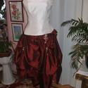 Menyecske, alkalmi, báli ruha, ekrü- bordó taft, Esküvő, Ruha, divat, cipő, Menyasszonyi ruha, Női ruha, Saját, egyedi tervezésű menyecske, alkalmi, báli ruhát kínálok. Anyaga taft. Hátán füzős,..., Meska