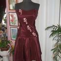Menyecske, alkalmi ruha, taft, füzős., Ruha, divat, cipő, Esküvő, Esküvői ruha, Női ruha, Egyberészes, menyecske, alkalmi ruha. Szine bordó-lilás, anyaga taft.  Hátán füzős, jól alak..., Meska