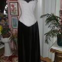 Alkalmi, báli ruha, két részes, 38-40, Esküvő, Ruha, divat, cipő, Esküvői csokor, Esküvői ruha, Varrás, Egyedi tervezésü, két részes alkalmi, báli ruha. Szoknya derékrésze gumizott, felsőrésze füzős, jól..., Meska