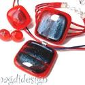 Piros-kék fényjáték üvegékszer szett, nyaklánc, karkötő, gyűrű,fülbevaló, Ékszer, óra, Karkötő, Medál, Ékszerszett, Ékszerkészítés, Üvegművészet, BOLTOMBAN TALÁLHATÓ ÖSSZES ÉKSZER KÉSZLETEN VAN, KOSÁRBA TÉTEL UTÁN AZONNAL TUDOM POSTÁZNI!!  Naran..., Meska