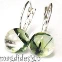 Dzsungel titka üvegékszer kapcsos fülbevaló, Ékszer, óra, Fülbevaló, Ékszerkészítés, Üvegművészet, Óriási színválaszték kapcsos fülbevalókból boltomban!!!  Áttetsző, zöld-sárga mintás üveg felhaszná..., Meska