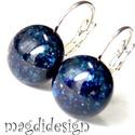 Kékcsillám üvegékszer kapcsos fülbevaló , Ékszer, Fülbevaló, Ékszerkészítés, Üvegművészet, Óriási színválaszték kapcsos és stiftes fülbevalókból boltomban!!!  Kék aventurin  ékszerüveg felha..., Meska