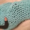 Óriáskötés takaró , játszószőnyeg, Otthon, lakberendezés, Lakástextil, Takaró, ágytakaró, Kötés, Varrás, Pihe-puha takaró, akár tv nézéshez, akár a hűvösebb piknikelős estékre. Anyaga 100% micropolieszter..., Meska