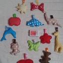 Babajáték, dekoráció vagy kulcstartó - 4 db, Baba-mama-gyerek, Dekoráció, Mindenmás, Baba-mama kellék, Pamutvászonból készültek. Vatelin golyócskákkal töltöttem meg. Babakocsira, babaforgóhoz vagy akár k..., Meska