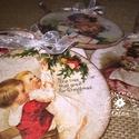 Vintage karácsonyi díszek / karácsonyfa dísz, Otthon, lakberendezés, A nagyi padlásán akadtam ezekre a kincsekre… - mondhatnám, hiszen a díszek olyanok, mintha má..., Meska