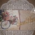 Sweet Home - Vidéki nosztalgia kerékpárral - falikép, Dekoráció, Otthon, lakberendezés, Kép, Falikép, Szintén a nosztalgia jegyében készült ez a hangulatos vidéki részletet ábrázoló falikép ^_..., Meska