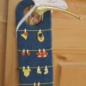 Pssszt! Baba alszik, ruha szárad, anya boldog..., Textilből készült ajtódísz. Kitűnő babakös...