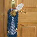 Pssszt! Baba álomba ringatja magát..., Textilből készült ajtódísz. Kitűnő babakös...