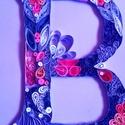 Quilling betű, Dekoráció, Kép, Dísz, A4-es karton lapra készült betű. Ajánlom  fali dekorációnak., Meska