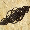 Egyedi fémmentes kézműves makramé karkötő, Ékszer, óra, Karkötő, Ha valami különlegesre vágysz! :)  Makramé technikával, azaz csomózással készült egyedi karkötő, mel..., Meska