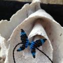 Makramé pillango, Ékszer, óra, Karkötő, Makrame (csomozás) teknikaval kesszült pillango. Anyaga magas minöségü viaszolt makramé zsinó..., Meska