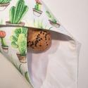 Szendvicsbatyu (kaktuszos), 30 x 30 cm textilszalvéta, mely kívülről pamut...